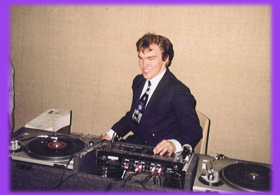 Denny djing at a wedding